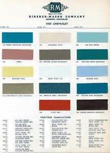 1955 chevy paint color sample chips card oem colors