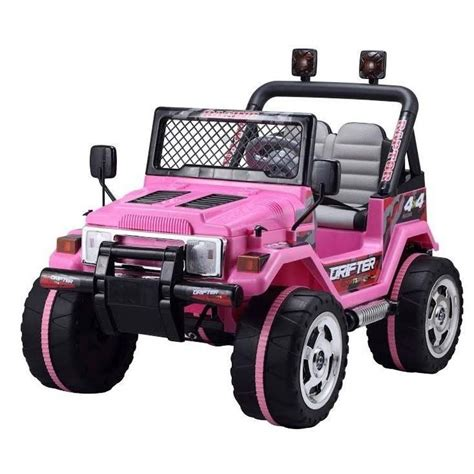 kid car jeep 12v ride on jeep 2 seater jeep pink ride on car