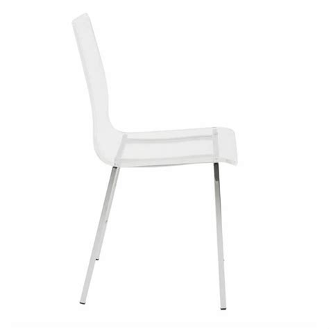 Clear Dining Chair by Eurostyle Dining Chair In Clear 80940clr
