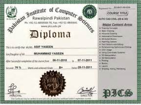 Computer Certificate Template Pakistan Institute Of Computer Sciences Free Online
