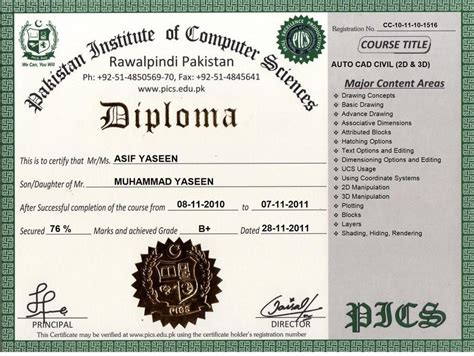 computer certificate templates pakistan institute of computer sciences free