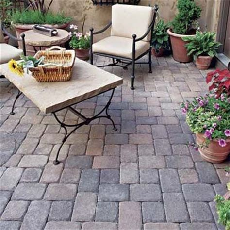 the concrete paver patio design with pergola features concrete paver styles adobe backyards and tumbled stones
