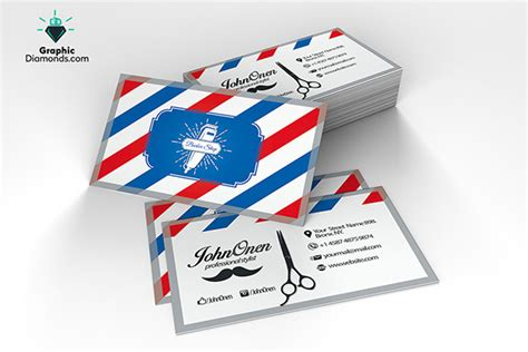 21 Barber Business Cards Psd Eps Ai Indesign Free Premium Templates Free Barber Business Card Template
