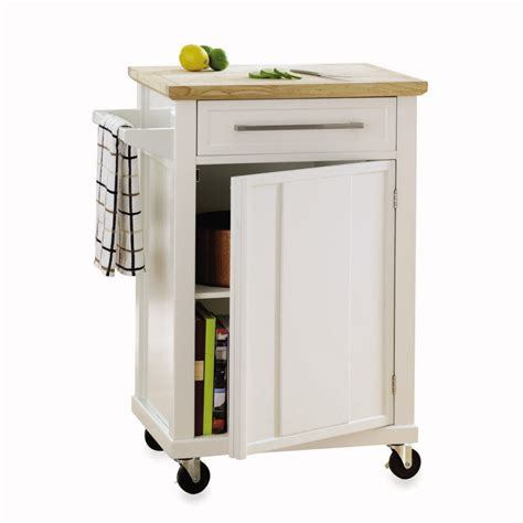 Small Kitchen Island Cart by Three Wood Topped Kitchen Carts On Casters In Budget