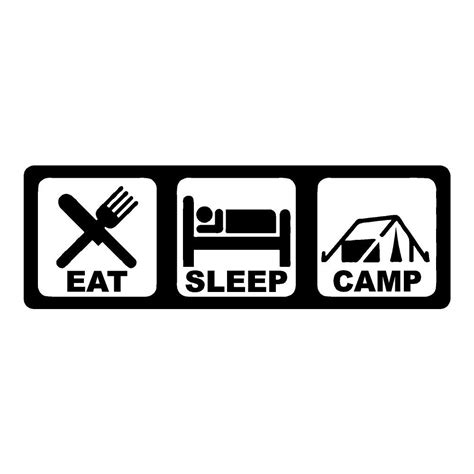 a sense of home eat make sleep live books eat sleep c outdoors stickers cing car decals