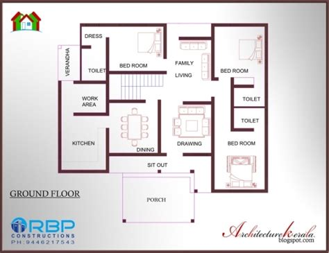 house designs floor plans kerala best 3 bedroom house plan in 1200 square feet architecture