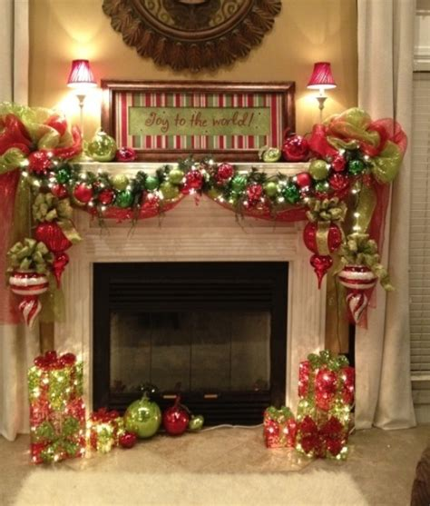 christmas fireplace decorating ideas add fire to the fireplace area with mesmerizing decoration