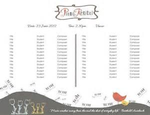 piano recital program template template for piano recital program printables