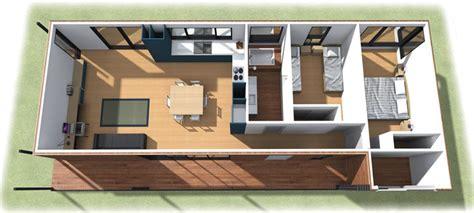 casas en 3d planos de casa de dos dormitorios en 3d
