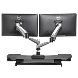 Corner Desk With Monitor Platform Products Monitor Stands Varidesk Dual Arm Monitor Stand