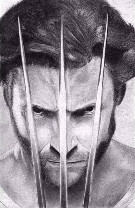 imagenes de wolverine en caricatura a lapiz wolverine hugh jackman by sarcazmatic on deviantart