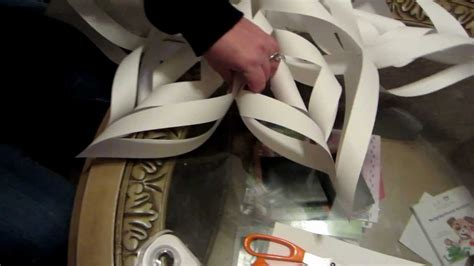 How To Make A Big Paper Snowflake - how to make a large 3d paper snowflake step by step