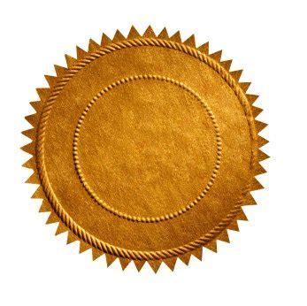 certificate seal template seal blank