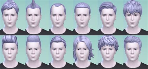 sims 3 custom hair color my sims 4 blog angel blue hair for males and girls by