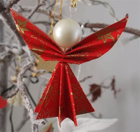 origami angel christmas decorations set of 4 folksy