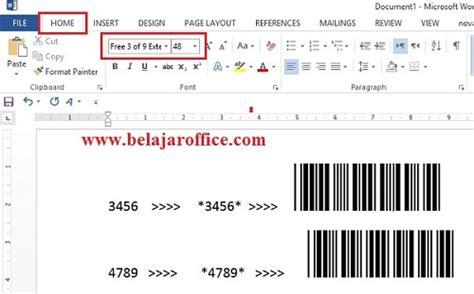 membuat barcode sendiri di excel cara membuat barcode menggunakan ms office word atau excel