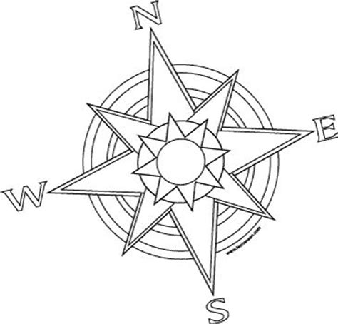 coloring page of compass rose free printable adult coloring pages compass pirates