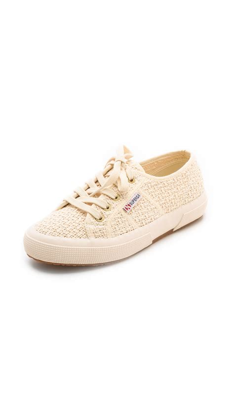 superga shoes superga tweed cotu sneakers in lyst