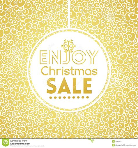 gold pattern card stock gold christmas sale on doodle seamless pattern stock image