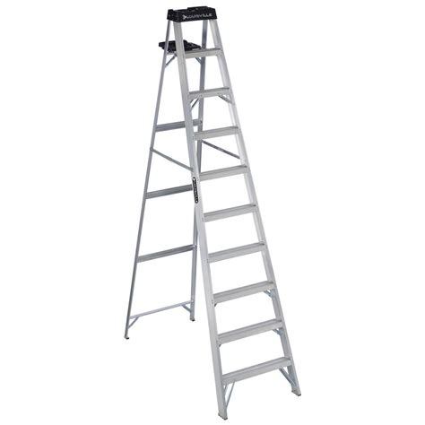 louisville ladder 10 ft aluminum step ladder with 300 lbs