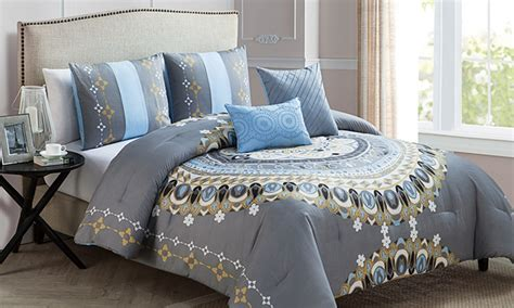 medallion comforter sets medallion comforter set groupon goods
