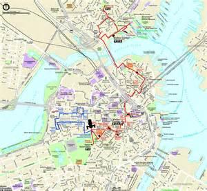 Boston Freedom Trail Map by Freedom Trail Boston Karamba