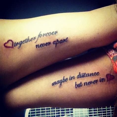 romantic tattoo ideas for couples romantic double quote tattoo for couple on arms