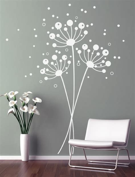dandelion wall stickers dandelions contemporary wall decals new york by