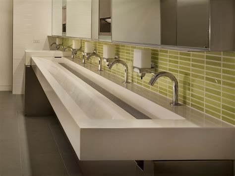 Ideas Design For Bathroom Trough Sink 200 Fifth Ave Trough Sink Office Space Pinterest Trough Sink Sinks And Washroom