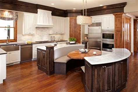 round kitchen island with seating seating at end of kitchen island google search