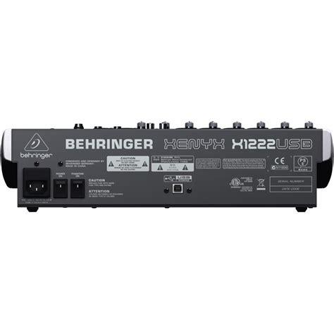 Mixer Behringer Xenyx X1222usb behringer xenyx x1222usb 12 input mixer w fx usb
