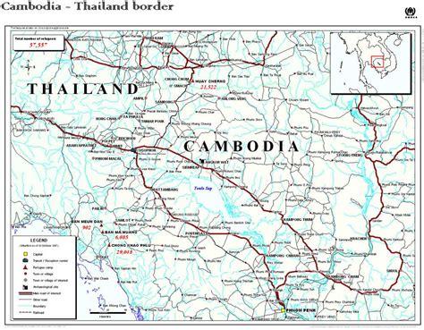 border map maps of the thai cambodian border refugee cs