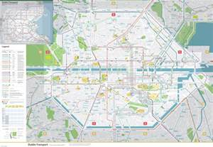 map of dublin large detailed map of dublin city center with transport