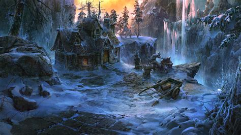 winter cabin winter cabin by vityar83 on deviantart