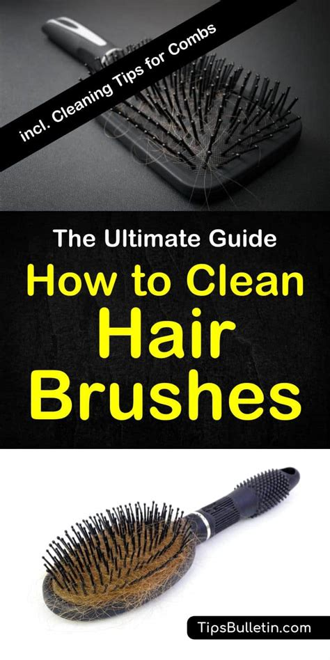 Cleaning Hair From by How To Clean Hair Brushes 2019 Update