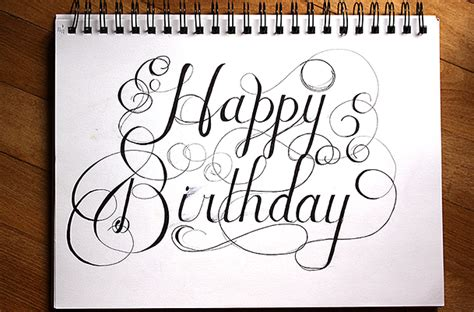 hand lettering design happy birthday hand lettering practice this weekend the things becky does