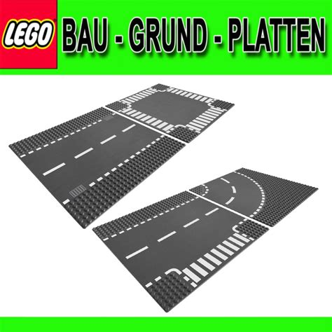 city plates lego city base plates 7280 7281 road with