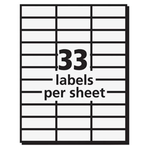 Avery 5351 White Copier Mailing Address Labels Permanent Adhesive 1 Quot Width X 2 13 16 Quot Length 33 Label Template