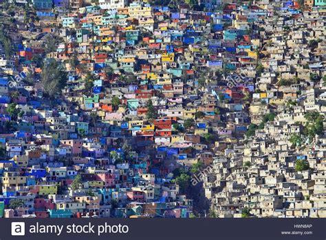 jalousie city haiti port au prince slum jalousie stock photo royalty