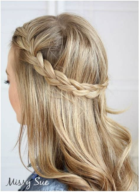 braided half up waterfall kids hair ideas pinterest demi queue de cheval avec tresse sur le c 244 t 233 guide astuces