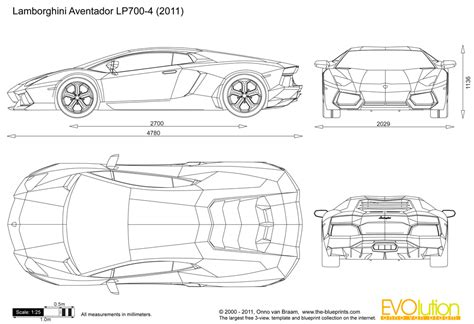 LAMBORGHINI blueprints   Immortal in Style   Pinterest