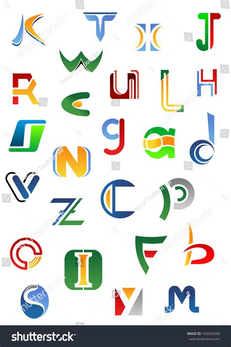 logo alphabet a z alphabet letters and icons from a to z for design such