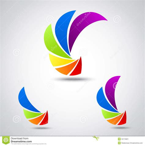 design free stock photo illustration of a colorful set logo business colorful shutter stock image image