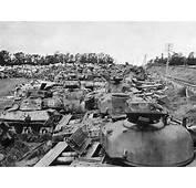 Wreckage Of American And German Tanks Off D Days Utah