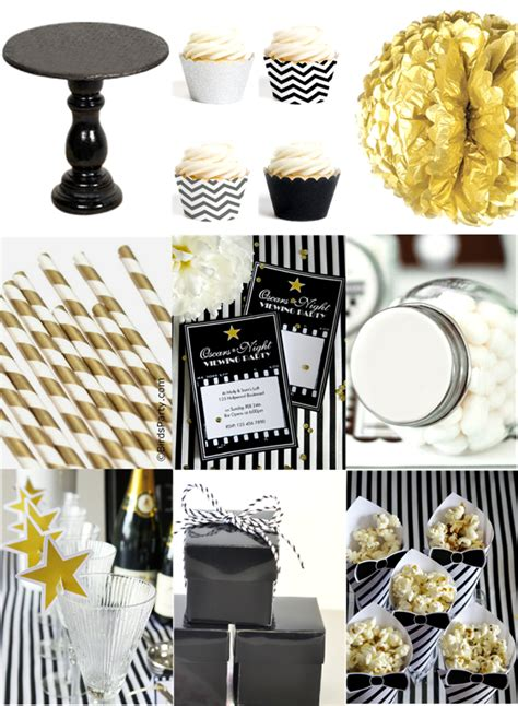 party themes black and gold black white gold oscars inspired party ideas party