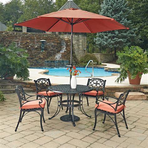 Metal Patio Furniture Umbrella Dining Cheap Set With
