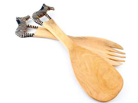 Spatula Zebra Wooden Handle 104310 teak wood the other beautiful wood shopswell