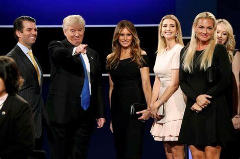 trump family photos i have experience says hillary clinton on trump s