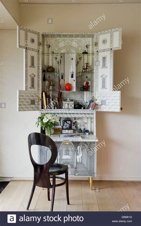mobili fornasetti a secretaire desk by fornasetti stock photo royalty