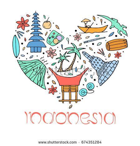 graphic design indonesia forum culture architecture indonesia hand drawn symbols stock
